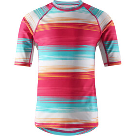 Reima Ionian Swim Shirt Girls, candy pink/streifen